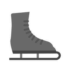 Ice skating shoe vector