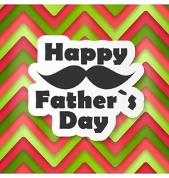 Happy father day poster card vector