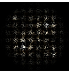 Black background with gold stars arranged in a vector