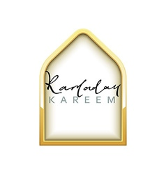 Gold design arab windows for ramadan kareem vector