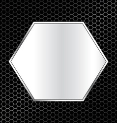 Abstract metal texture background with hexagon vector