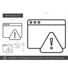 Alert window line icon vector