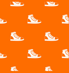 athletic shoe pattern seamless vector image vector image