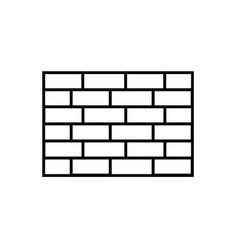 brick wall icon vector image
