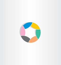 business circle logo icon color star vector image