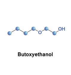 Butoxyethanol organic compound vector