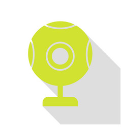 Chat web camera sign pear icon with flat style vector