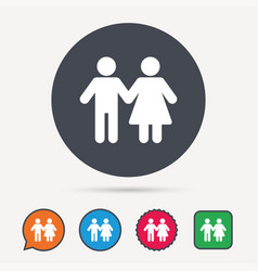 Couple icon traditional young family sign vector
