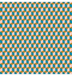 Cubes pattern in brown vector