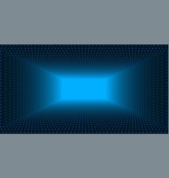 data flow visualization triangle tunnel of vector image vector image