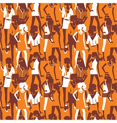 Fashion seamless pattern vector image