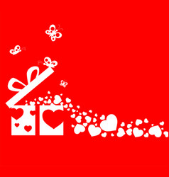 Happy valentine day with ornament for decorative vector