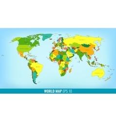 High detail world map vector