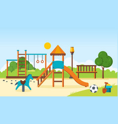 Kids playground horizontal bars swings vector
