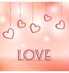 Love sign with hearts decorations vector image vector image