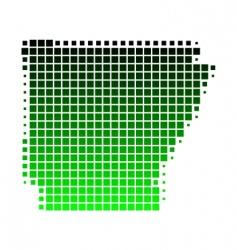 map of Arkansas vector image vector image