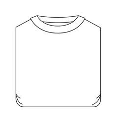 monochrome silhouette of man t-shirt folded vector image