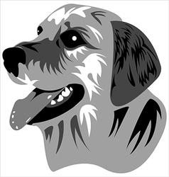 muzzle dog vector image