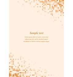 Orange page corner design template vector