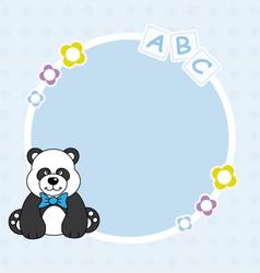 Panda bear blue framework vector