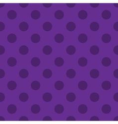 Polka dots seamless pattern purple vector