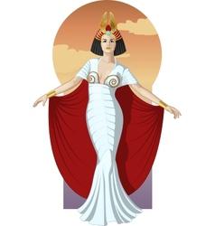 Retro character attractive caucasian actress vector image vector image