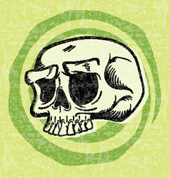 Retro Halloween Skull vector image