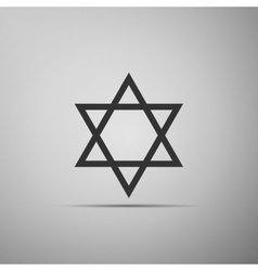 Star of david icon on grey background vector