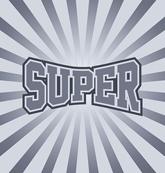 Super vintage sunray art vector