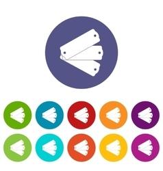 Three tags set icons vector image