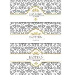 Vintage collection baroque and antique frames vector