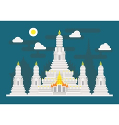 Wat Arun Thailand temple vector image