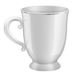 white tea cup mockup realistic style vector image