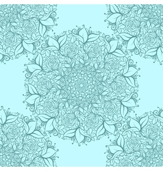 Hand drawn seamless pattern with mandalas endless vector