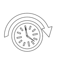 Clock with arrow above icon image vector