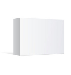 Realistic white package box vector