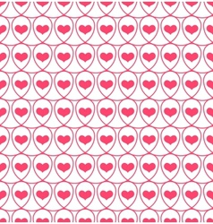 Seamless pattern with hearts in loops vector