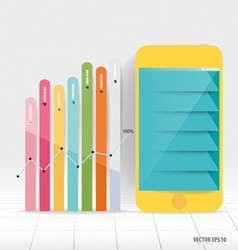 Infographic design template touchscreen device vector
