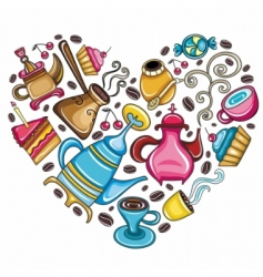 Coffee lover scene vector