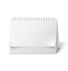 Blank paper desk calendar vector