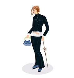 Elegant girl with a small bag vector