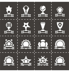 Trophy and awards icon set vector