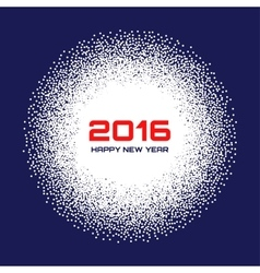 Blue- white new year 2016 snow flake background vector