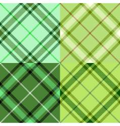 Irish tartan pattern vector image