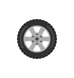 Automobile flat wheel icon vector
