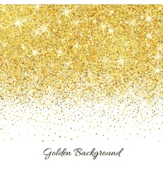 Gold glitter texture with sparkles vector