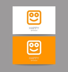 Happy emotion template vector