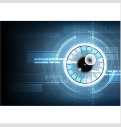 Abstract technological eye scanning id security vector