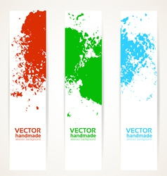 Abstract vertical handdrawing banner set vector image vector image