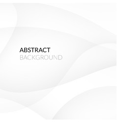 Abstract white background with smooth lines vector image vector image